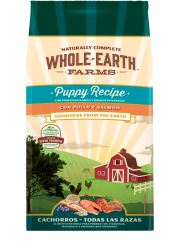 Whole Earth Farms Puppy Recipe con Pollo y Salmón